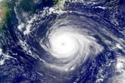 На этом фото из космоса виден циклон