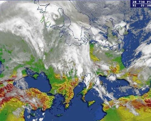 Циклональный тип погоды и циркуляция воздушных масс в горизонтальной плоскости